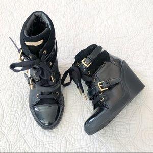 Michael Kors Lizzie High Top Wedge Sneakers